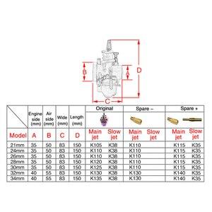 Image 3 - ZSDTRP Universale Multicolor Moto Carburatore 21 24 26 28 30 32 34 millimetri Power Jet Dirt Bike 4T PWK carburador 110cc 250cc 125cc
