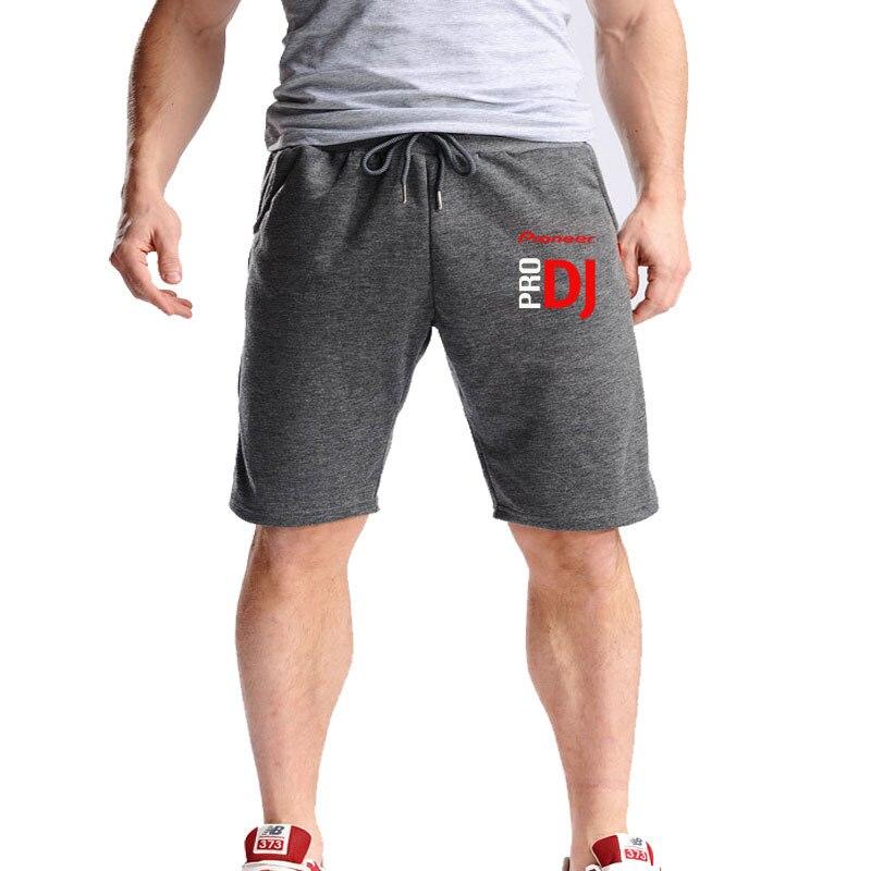 Fashion DJ Style Pioneer Men Sporting Beaching Shorts Summer Bodybuilding Sweatpants Male Loose Jogger Cotton  Casual Shorts