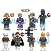 Single Sale Building Blocks Super Heroes Captain Plastic Pepper Tony Stark Action Figures Model Gift Toys For Children DIY X0240 стоимость