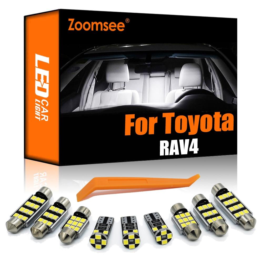 Zoomsee внутренсветодиодный для Toyota для RAV4 MK I II III IV V 1 2 3 4 5 1994-2020 Canbus Крытый Купол Карта ламсветильник для чтения комплект автомобильных ламп