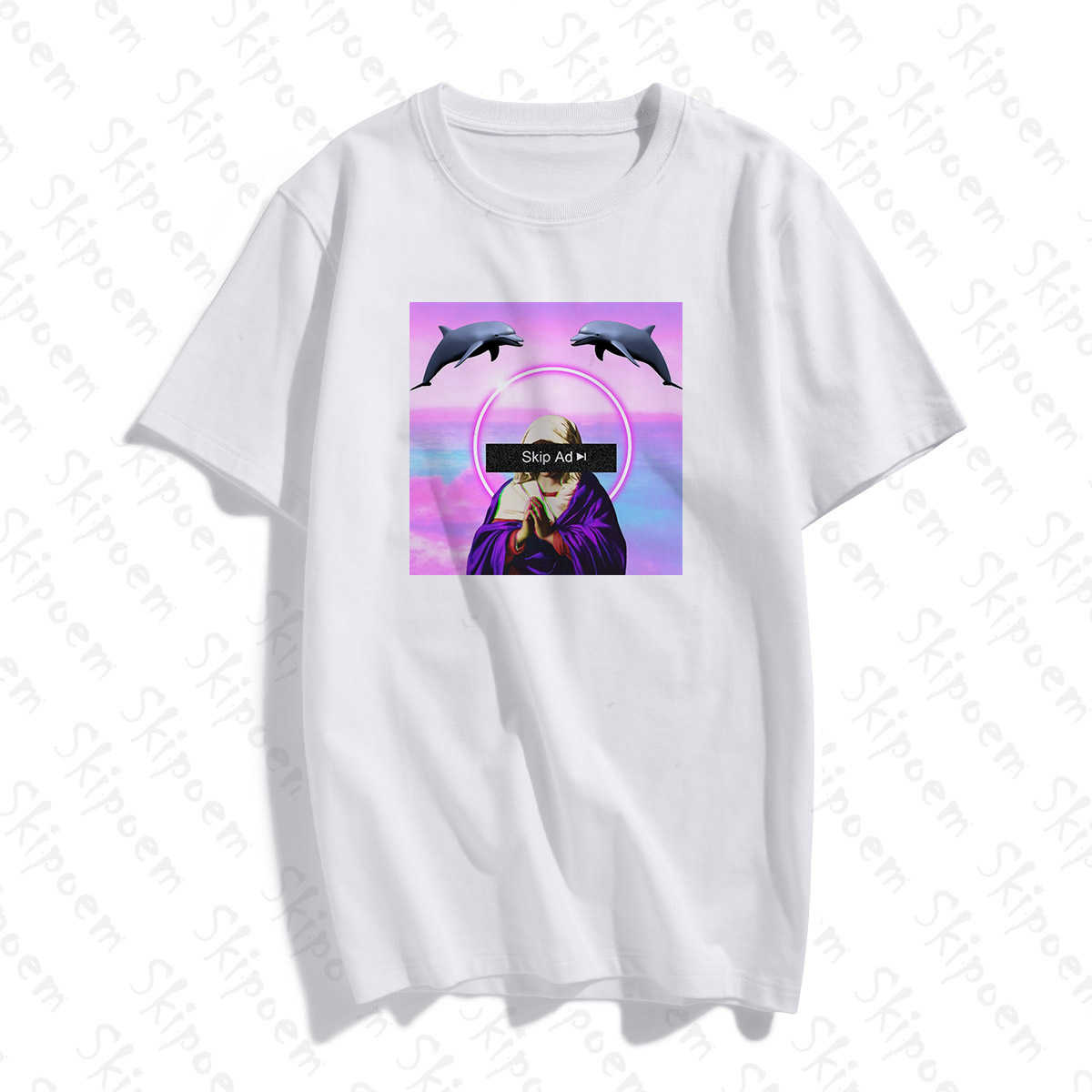 Funny Creative Retro Style T Shirt Women Tumblr Harajuku Kawaii Aesthetic Cotton Plus Size Short Sleeve Clothes Tee Shirt Femme