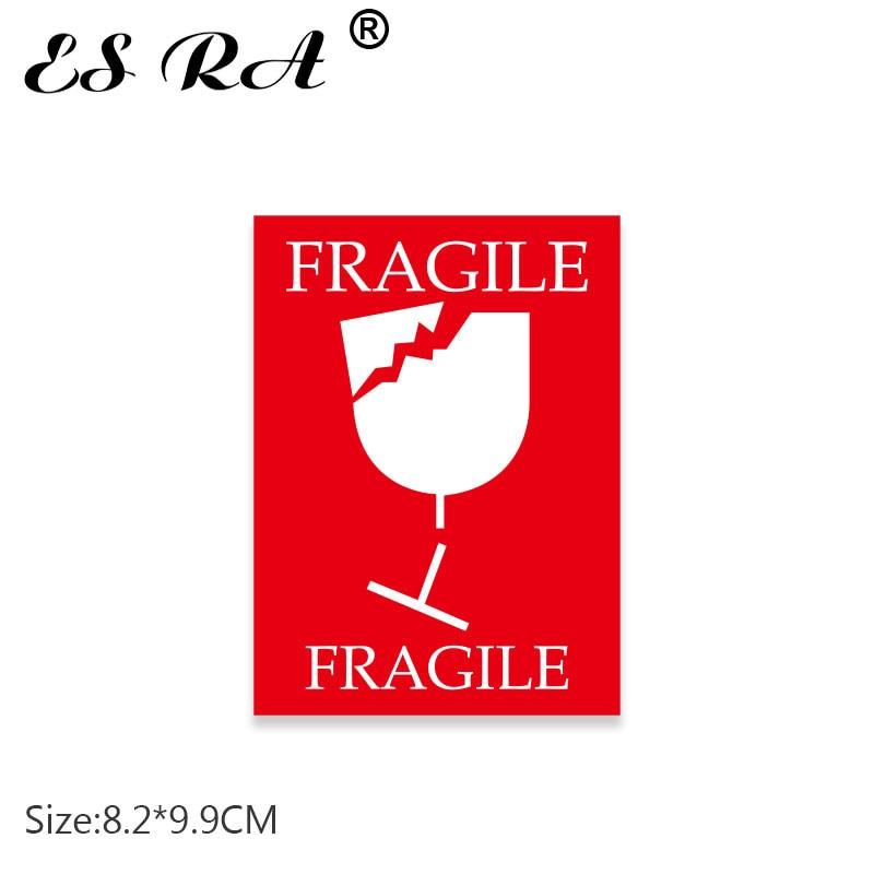 One Piece Fragile Stickers Warmning Sign Pegatinas Reminder Mark Decal Waterproof PVC for Lugguage Bridge Laptop Glass