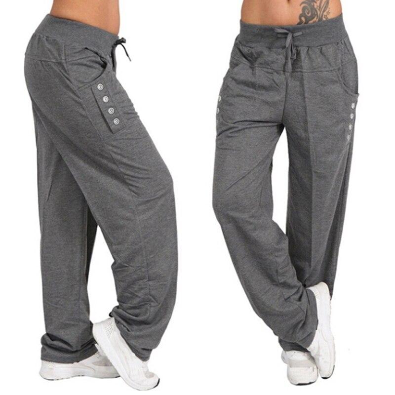 New Fashion Plus Size Male Pants Hip Hop Harem Joggers Pants Men Trousers Mens Fitness Solid Pocket Pants Sweatpants