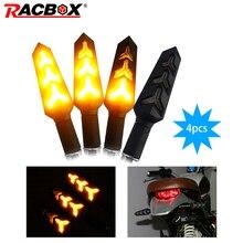 12V Universal Motorcycle LED Turn Signal Light Indicators Amber Blinker Flashers Lighting Accessories