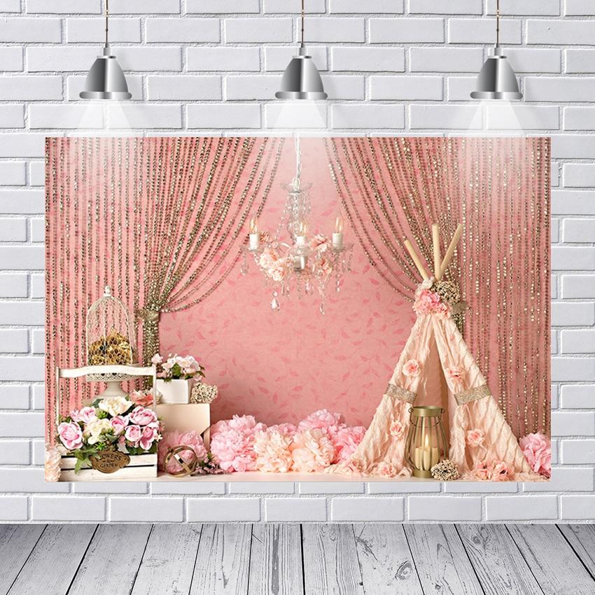 background photography boho peach damask curtain bohemian dream catcher baby shower custom photo studio background backdrop