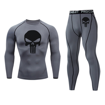 Men's Compression Sportswear Suits Gym Tights Training Clothes Workout Jogging Sports Set Running Rashguard Tracksuit For Men 27