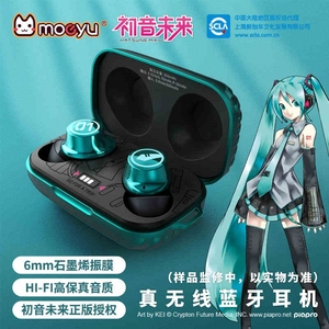 Hatsune Miku Anime Headset Headphone Manga Role Action Figure Cosplay Vocaloid Gamer Surround Noise Bluetooth Earphone