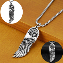 Hip Hop Fashion Eyes Angel Wings Pendants Necklaces Titanium Steel Chain Short Long Mens Womens Silver Necklace Jewelry Gift warframe school bag noctilucous backpack student school bag notebook backpack daily backpack