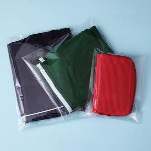 Image 3 - Szerokość 30cm przezroczyste plastikowe torby Opp z uszczelnieniem opakowanie uszczelniające worek celofanowy woreczek na upominek weselny