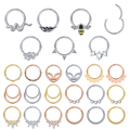 16g Stainless Steel Nose Ring for Women Bee Leaf Snake Septum Rings Hoop Nose Septum Piercing Helix Cartilage Ear Piercings