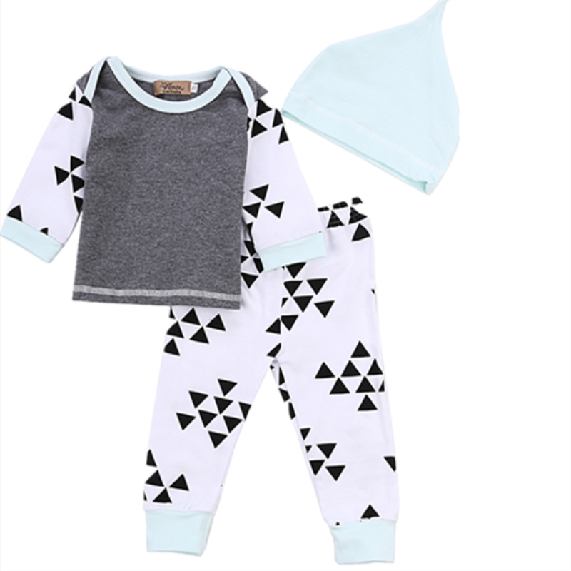 Felicy Newborn Infant Baby Girls Long Sleeve Letter Romper Tops+Pants Clothes Outfits Set