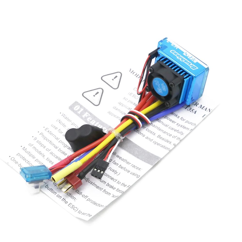 Waterproof 45A/60A/80A/120A Brushless ESC Electric Speed Controller For 1/8 1/10 1/12 RC Car Crawler RC Boat Part