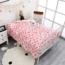 4 слойное Летнее Детское одеяло из хлопка и муслина летнее постельное