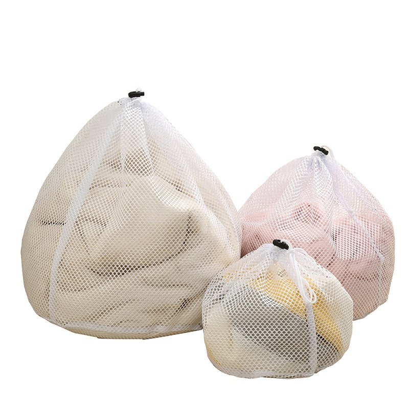 Washing Machine Clothes  Mesh Bag Underwear Locking Drawstring Laundry Mesh Net Pouch Bag Clothing Storage Bag Multi-Functional