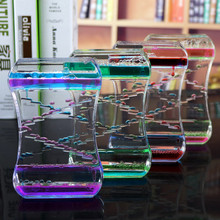 New decompression oil leak two-color crystal oil drop acrylic decoration crafts time hourglass student gift home decoration