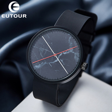 цена на Eutour Brand Luxury Sport Quartz Watch 3ATM Waterproof Men's Minimalist Marble Watches Clock Wristwatches Relogio Masculino