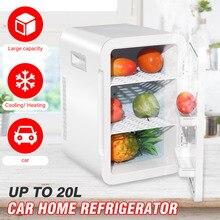 US Stock 20L Car Refrigerator Mini Fridge Cooler Freezer Small Fridge 12V Food Fruit Portable 220V For Home Use Vehicle Truck