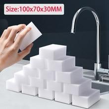 50 pçs/lote Esponja Magia Branca Esponja Borracha Melamina Limpo 10x7x3 centímetros Esponja De Limpeza para Cozinha Casa de Banho Escritório Ferramentas de Limpeza