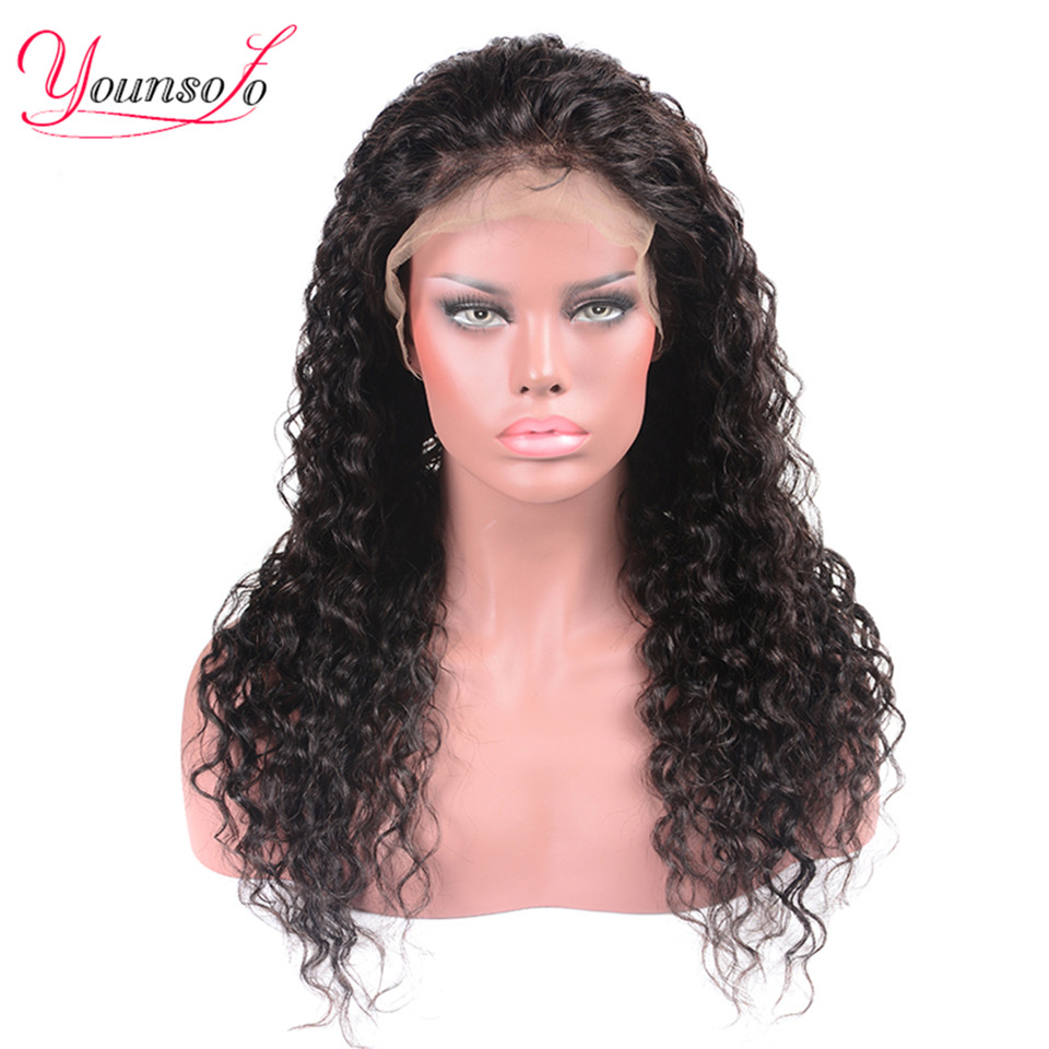 H49388e20c08e4c1fbd89540037a232b2L Younsolo 13x4 Lace Front Human Hair Wigs For Black Women Remy Brazilian Water Wave Lace Front Wig Pre Plucked With Baby Hair
