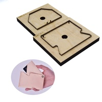 Customed Leather Die Cutter Japan Steel Blade Rule Die DIY Leather Card Holder Wooden Die Mould Hand Punch Tool for Leathercraft