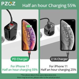 Image 5 - PZOZ PD 18W hızlı şarj 3.0 USB şarj cihazı 36W hızlı şarj LED ekran ab duvar adaptörü için iphone11 8 7 6s xiaomi redmi note 9s
