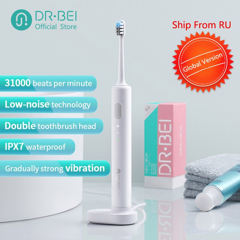 DR.BEI Sonic Electric Toothbrush Rechargeable Waterproof DR BEI Dientes Ultrasonic Whitening Teeth Clean Toothbrush C01 Xiomi
