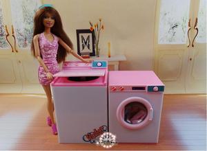 Оригинал для принцессы Барби стирка, стиральная машина гладильная доска Кукольный дом мебель набор 1/6 bjd кукла аксессуары детская игрушка