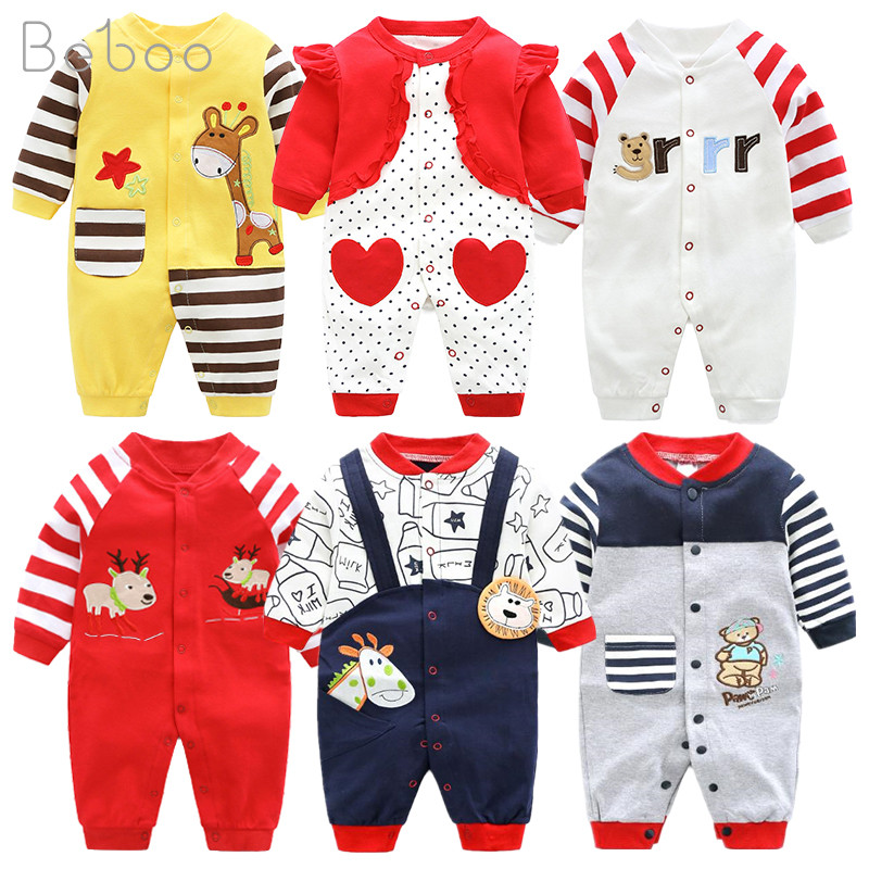 Newborn Unisex Jumpsuits Gentleman Autumn Long Sleeves Rompers Cotton Baby Clothes For Boys Girls Outfits Infantil Costume Wear