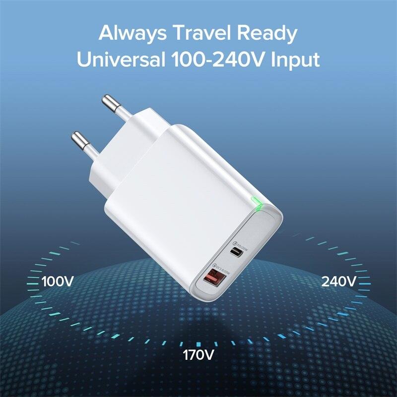 Зарядное устройство INIU PD 20 Вт USB Тип C, быстрая зарядка для телефона iPhone 12 11 mini X Xs Xr Pro Max 6 7 8 Plus Huawei Xiaomi-3