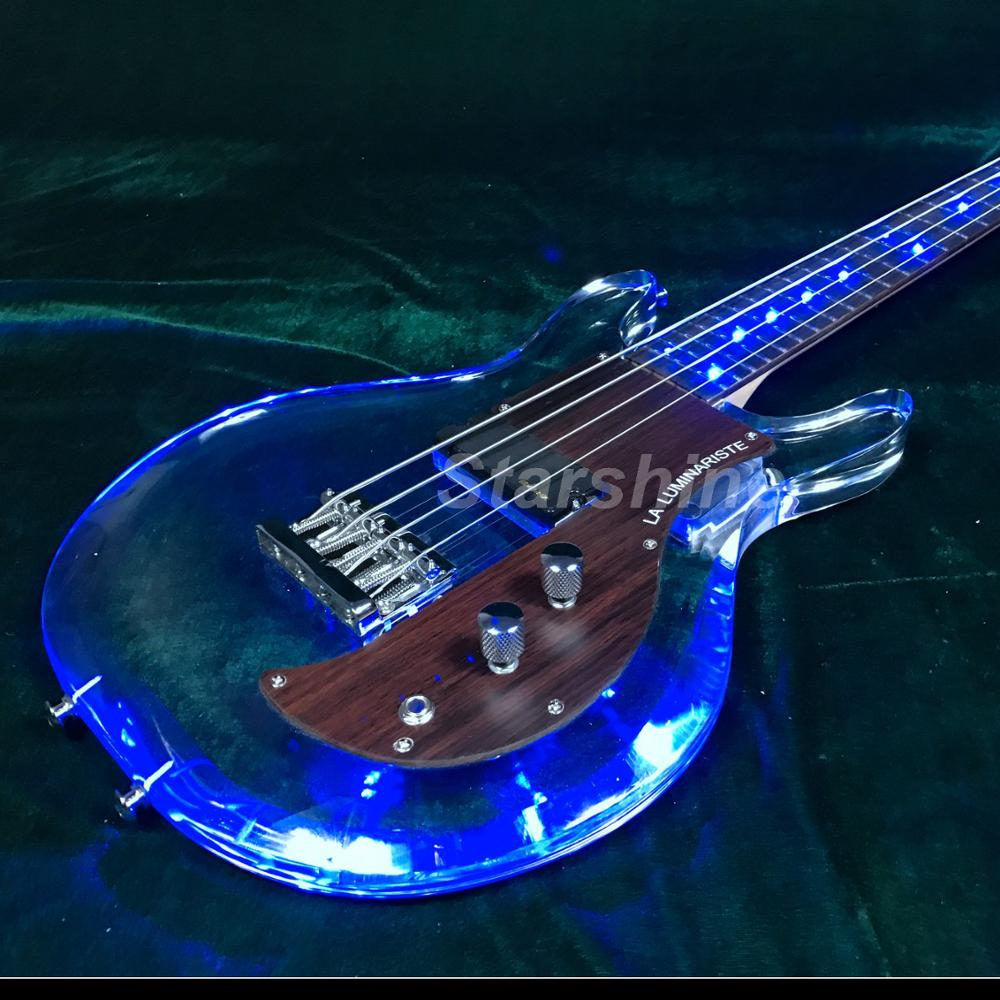 T-ED5 LED Light 4string electric bass guitar ,one humbucker bolt on neck armstrongbass