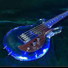 T-ED5 LED Light 4string electric bass guitar ,one humbucker bolt on neck 4string armstrongbass guitar