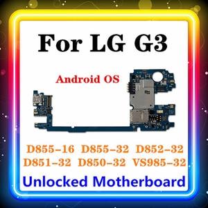 Image 1 - מקורי עבור LG G3 D855 האם 16gb/32gb מוחלף עיקרי לוח D850 D852 D851 VS985 אנדרואיד OS מעודכן