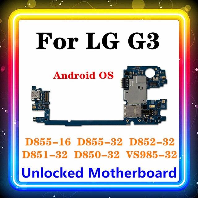 מקורי עבור LG G3 D855 האם 16gb/32gb מוחלף עיקרי לוח D850 D852 D851 VS985 אנדרואיד OS מעודכן