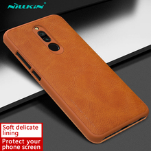 Redmi 8 Case Nillkin Qin Series PU Leather Flip Cover Case for Xiaomi Redmi 8