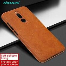 Redmi 8 étui Nillkin Qin série étui à rabat en cuir pour Xiaomi Redmi 8