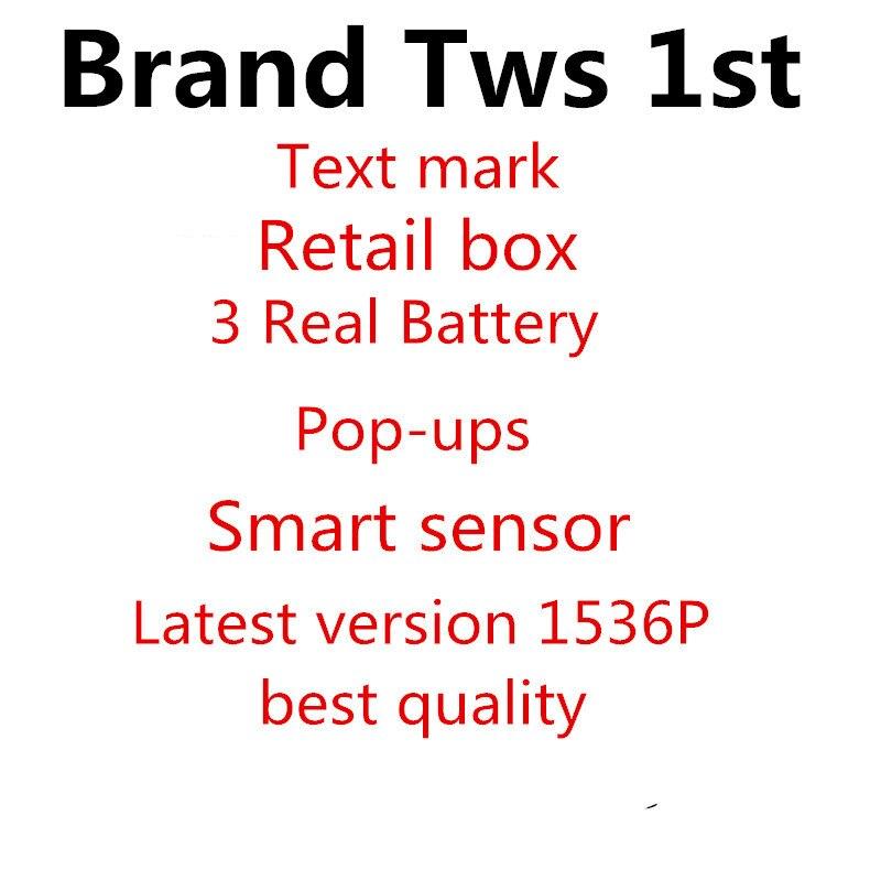 Le plus récent Tws 1st avec capteur intelligent sans fil Bluetooth connecter casque et écouteurs pour iP 6 7 8 X XS Max Pad et Android