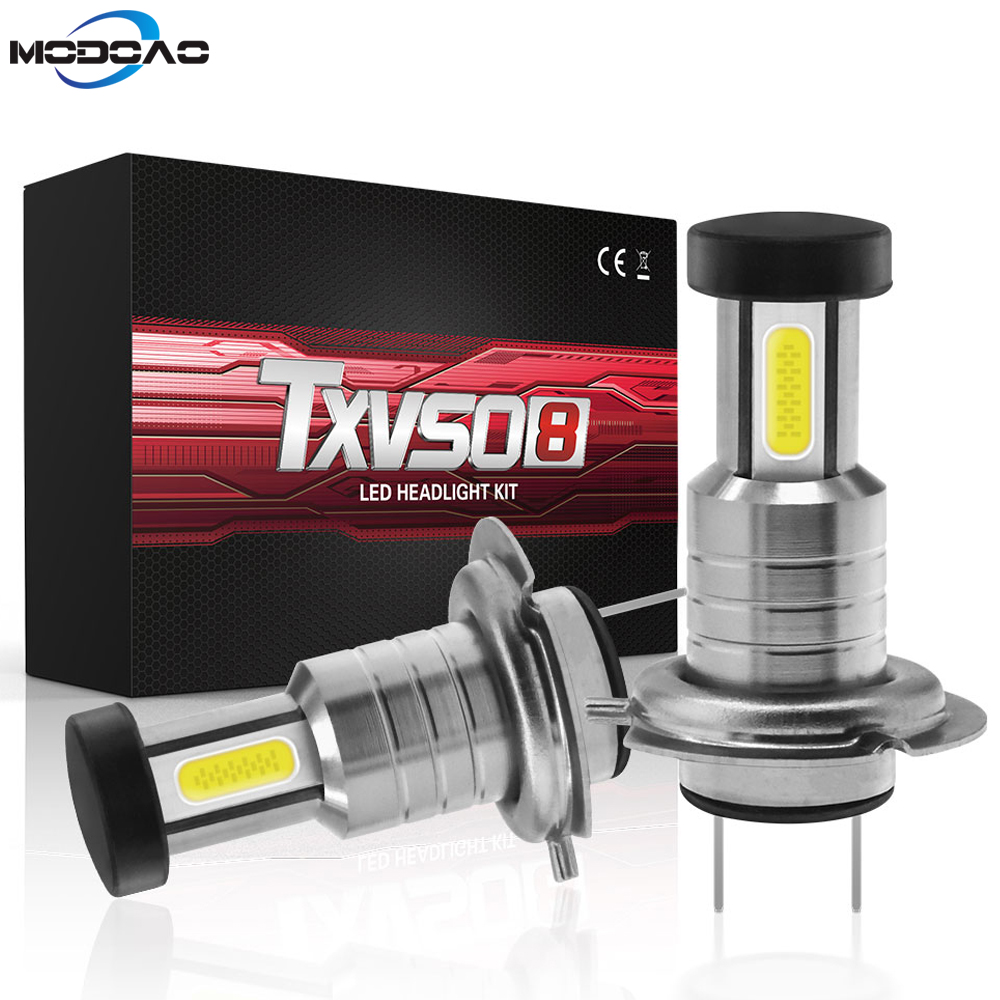 2pcs <font><b>H7</b></font> LED Headlight Bulb 55W <font><b>30000LM</b></font> LED Canbus Auto Light <font><b>H7</b></font> Hi-Lo Beam Conversion Globes Bulbs 6000K Headlamp Beam Kit image