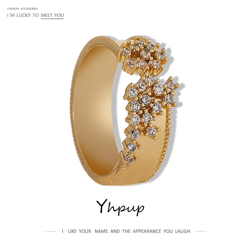 Yhpup Exquisite Zirkonia Einstellbare Ring für Frauen Charme Metall Schmuck Luxus Geometrische Hohl Eröffnung Ring кольцо 2020|Verlobungsringe| - AliExpress