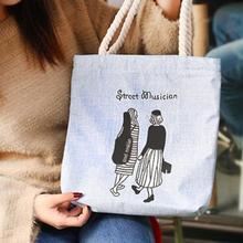 Women Canvas Shoulder Bag Casual Tote Bags Print Hand Bags Foldable Leisure Beach Totes Shopping Handbag For Outdoor Handbags