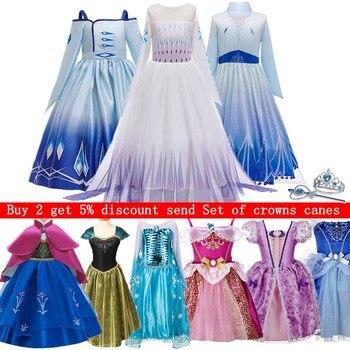 2020 Baby Girl Princess Dress for Girls Halloween Carnival Party Dress up Birthday Costume Children Clothing Vestidos