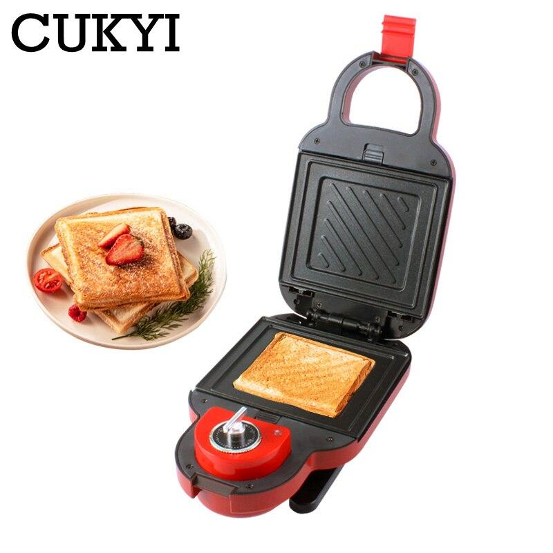 Многофункциональная электрическая машина для завтрака CUKYI, мини-фреза для барбекю и омлета с антипригарным покрытием, съемная сковорода, ус...