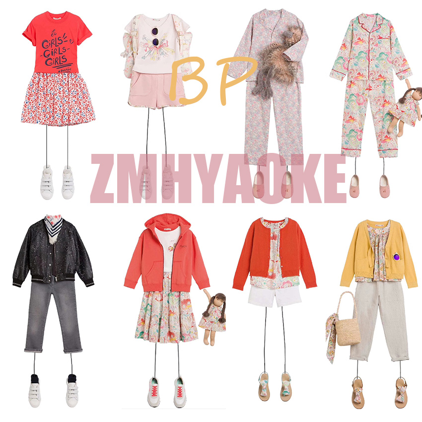ZMHYAOKE-bp NEW 2020 New Summer Baby Girls Clothes Children's Sets Fashion Beach Christmas Boutique Kids Clothing Boys Clothes