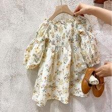 Mihkalev Shoulderless Kids Clothes Girls Off Shoulder Tutu Dress 2021 Baby Girls Spring Summer Floral Dress vestidos de verano