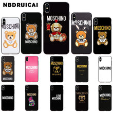 NBDRUICAI Luxury Brand Bear High Quality Silicone Phone Case for iPhone 11 pro XS MAX 8 7 6 6S Plus X 5 5S SE XR case(China)