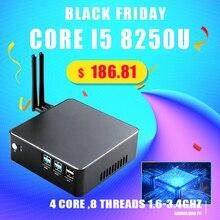 """كمبيوتر محمول صغير i7 7567U i5 8250U i3 8130U 8GB DDR4 1 * mSATA SSD + 1*2.5 """"SATA HD Windows 10 Nuc الرسومات 4K HTPC واي فاي HDMI VGA"""