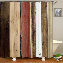 Multi-color mixed accessories waterproof fabric polyester shower bathroom curtain