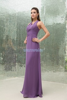 free shipping 2021 new design handmade brides maid tailor shop maxi long purple evening real photo Bespoke Occasion Dresses