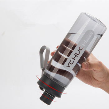 Water Bottle Protein Shaker Portable Bottle Sports Camping Hiking Water Bottle With Tea Infuser Plastic Cup 600/800/1000ML