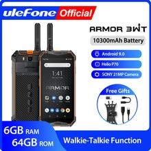 Ulefone Móvil inteligente Armor 3WT, resistente, con walkie talkie, Android 9.0, 6GB de RAM, 64GB de ROM, batería de 10300mAh, NFC, 4G, Globalvision