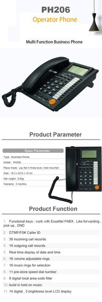 Excelltel Soho Pbx Md108 Intercom Office System And Ph206 Analog Caller Id Phone Small Pabx Exchange Pbx Aliexpress
